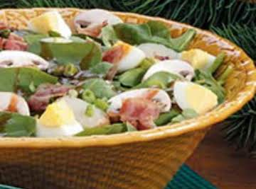 My Spinach Salad with Creamy Mushroom Dressing