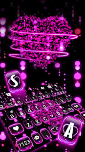 Sparkling Hearts 3d Keyboard Theme