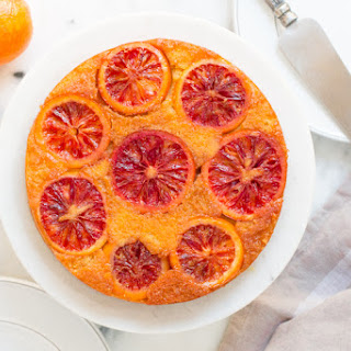 Blood Orange Olive Oil Upside-Down Cake