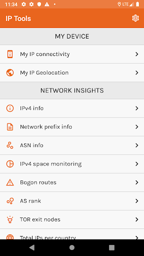 ip tools: ip geolocation and network insights screenshot 1