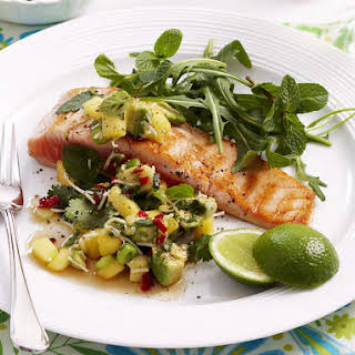 Thai Salmon with Mango Salsa.