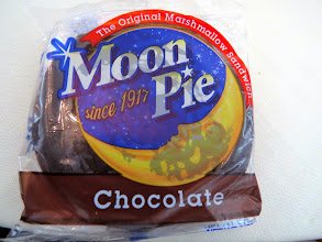 "Photo: Yes it is an ACTUAL ""Moon Pie"" served at the dinner.. along with ""Sweet Tea"""