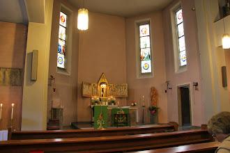 Photo: Om søndagen var vi til Messe i Kiedrich. Kirken var lukket pga. renovering og vi holdt messen i en nærliggende hospitalskirke