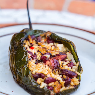Grilled Stuffed Poblano Peppers.