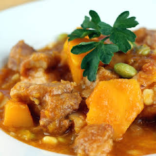 Pressure Cooker Pork Stew with Kabocha Squash.