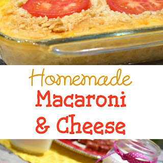 Homemade Macaroni and Cheese.