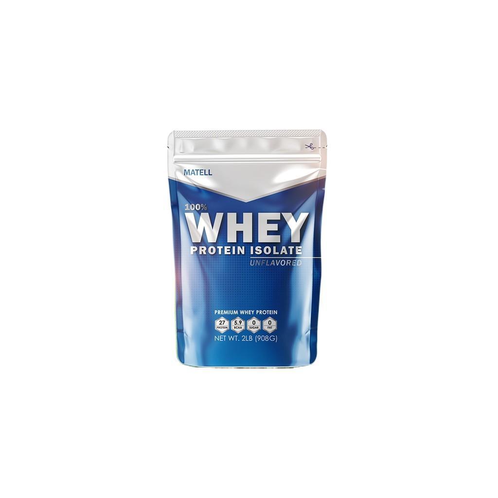 MATELL Whey Protein Isolate 2 lb ,Non GMO, เวย์ โปรตีน ไอโซเลท ขนาด 2ปอนด์  หรือ 908กรัม ลดไขมัน + เพิ่มกล้ามเนื้อ🥰 ส่วนลดอีกต่อไป ฿911