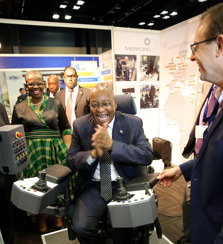 President Jacob Zuma attends the Terminal Operators Conference Africa in Durban on December 5 2017. Picture: THULI DLAMINI