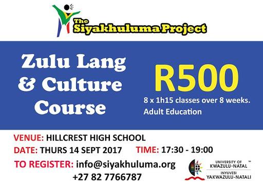 Zulu Language Course (Beginners) : Hillcrest High School, KZN, South Africa