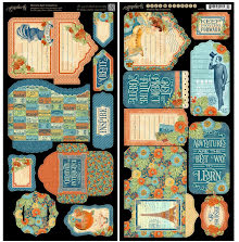 Graphic 45 Cardstock Die-Cuts 6X12 - Worlds Fair UTGÅENDE