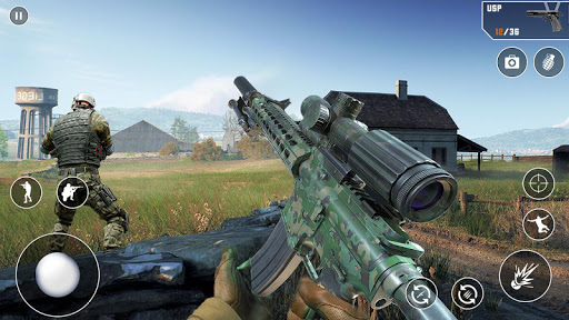 Anti-Terrorist FPS Shooting Mission:Gun Strike War android2mod screenshots 12