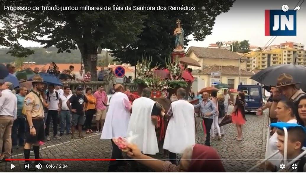 Procissão de Triunfo juntou milhares de fiéis da Senhora dos Remédios