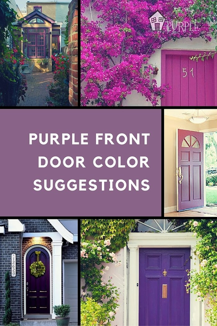 Purple Front Door Color Suggestions Pinterest Image