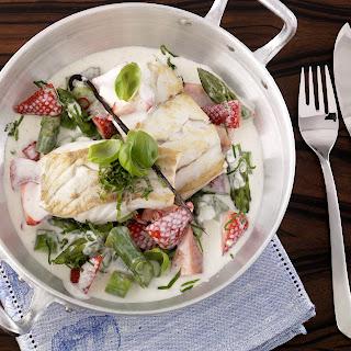 Fischfilet mit Erdbeeren