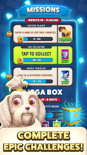 Solitaire Pets Adventure - Free Classic Card Game screenshots 6