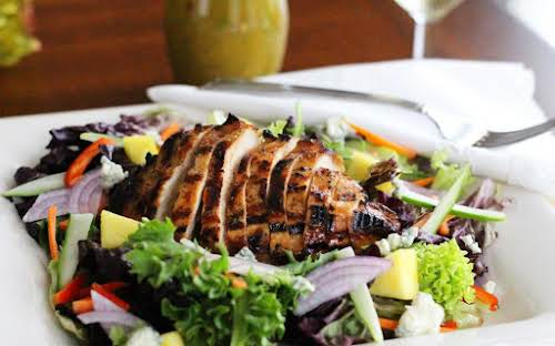 Click Here for Recipe: Grilled Polynesian Chicken Salad With A Pineapple Vinaigrette...