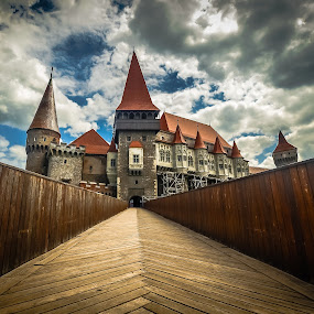 Once upon a time.... by Lupu Radu - Buildings & Architecture Public & Historical ( clouds, history, old, sky, hunedoara, romania, castle, castelul huniazilor,  )