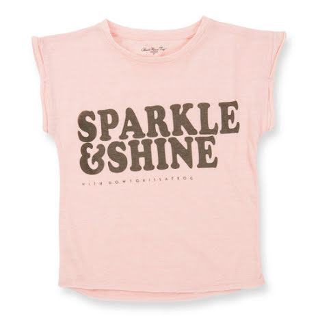 How to Kiss a Frog Sparkle Tee Pink