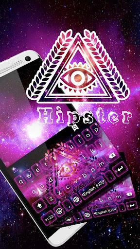 Hipster Kika Keyboard Theme