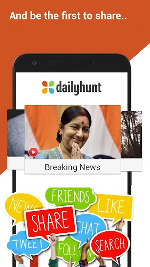 Dailyhunt (Newshunt) - Latest News, LIVE Cricket screenshot for Android