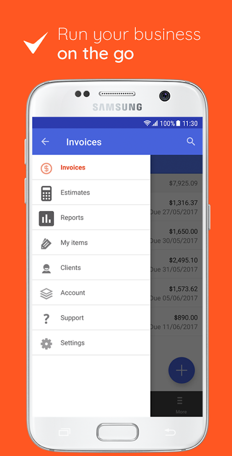 Invoice Template For Excel 2010 Excel Invoice  Estimate On The Go  Android Apps On Google Play Excel Spreadsheet Invoice Pdf with Invoice Template For Microsoft Word Invoice  Estimate On The Go Screenshot Ups Commercial Invoice Fillable
