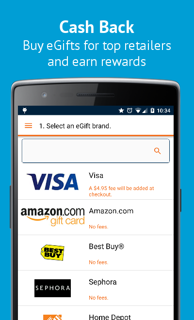 Buy Gift Cards & Visa eGifts- screenshot