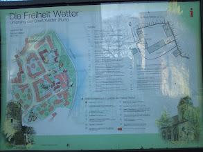 Photo: Informationstafel an der Einmündung der Straße ,Freiheit' in die Burgstraße (Wetter an der Ruhr).