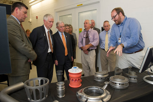 JEFF SESSIONS AND BROOKS TOUR MSFC PROPULSION DEVELOPMEN RESEARCH LAB.