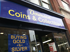 Photo: Downeast Coins & Collectibles in Bangor, ME proudly displaying their BBB Accreditation.