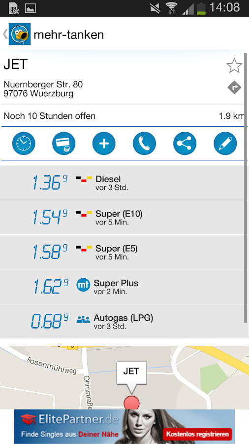 mehr-tanken premium- screenshot