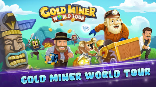Gold Miner World Tour: Gold Rush Puzzle RPG Game screenshots 1