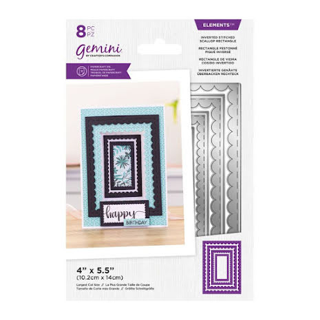 Gemini Elements Die - Inverted Stitched Scallop Rectangle