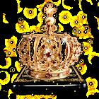 Tema de la corona de oro negro icon