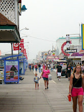 Photo: An overcast day did not stop visitor's to the boardwalk in Wildwood, NJ.