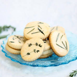 Easy Lemon Herb Shortbread Cookies.
