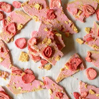 Strawberry Shortcake Almond Butter Bark { Paleo & Vegan } Recipe