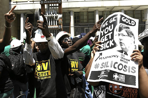 Complex litigation: Past and present mine workers claim they were exposed to conditions that resulted in them contracting tuberculosis and silicosis. In 2016, the high court gave them the go-ahead for a class-action lawsuit. Picture: ALON SKUY