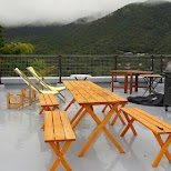 rooftop patio at $50 Ryokan Gaku Guesthouse in Gora, Hakone in Hakone, Kanagawa, Japan