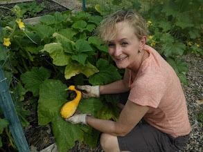 Photo: Pat with huge yellow squash 6/2/13