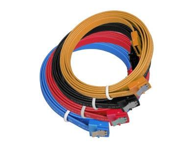 SATA II, 4 kabler i forskjellige farger