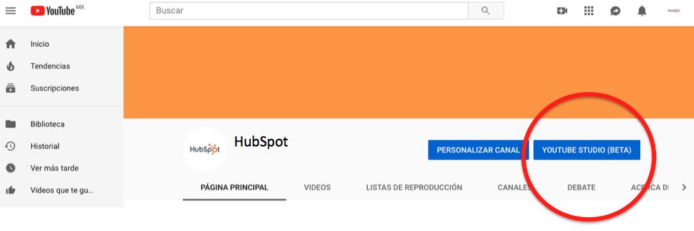 youtube live entrar a youtube studio
