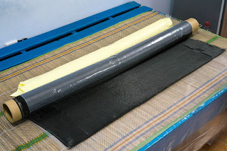 Photo: finally my purchased roll of carbon fiber fabric arrives today
