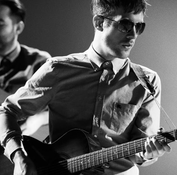 Photo: Burberry presents British band Life in Film wearing aviator sunglasses from the Spring/Summer 2012 eyewear collection