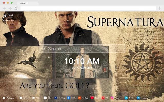 Supernatural New Tab Page Popular TV HD Theme