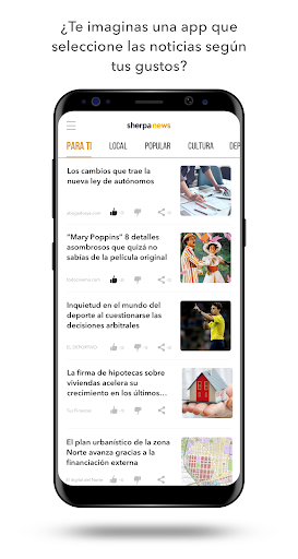 sherpa news screenshot 1