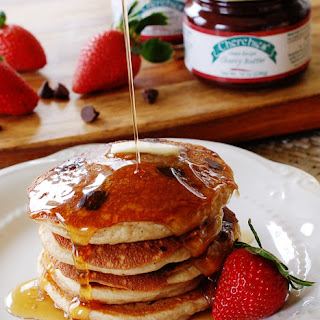 Strawberry Chocolate Chip Pancakes