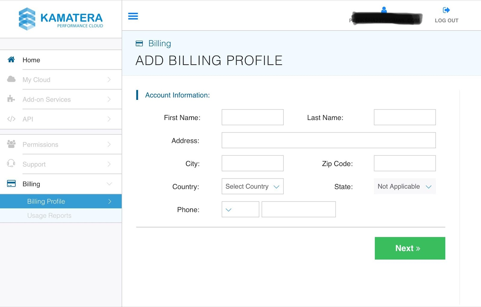 Add billing profile