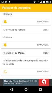Feriados screenshot