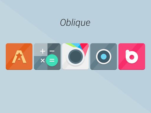 Oblique - Icon Pack