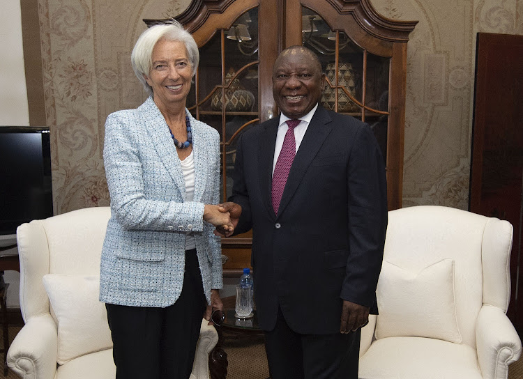 President Cyril Ramaphosa receiving a courtesy call from Christine Lagarde, International Monetary Fund's Managing Director who is in the country as part of IMF head Africa trip. 19/12/2018. Picture: KOPANO TLAPE/GCIS
